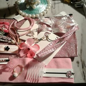 Pink jewelry bundle 20 pcs for 12